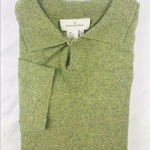 Ermenegildo Zegna Green Cotton Marbled Size XL